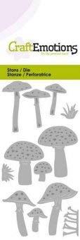 Stanz-und Prägeschablone - Pilze