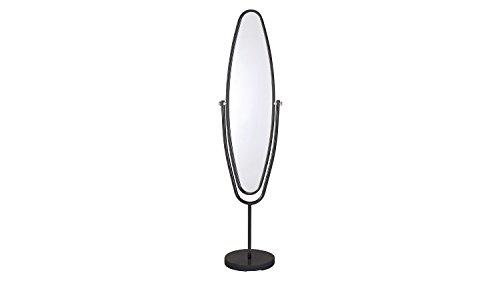 Möbel Akut Standspiegel Ute Ankleidespiegel Spiegel Metallrahmen schwenkbar 38x154 (schwarz)