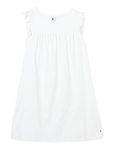 Petit Bateau 5547801 Camicia da Notte, Bianco (Ecume 01e), 4 anni Bambina