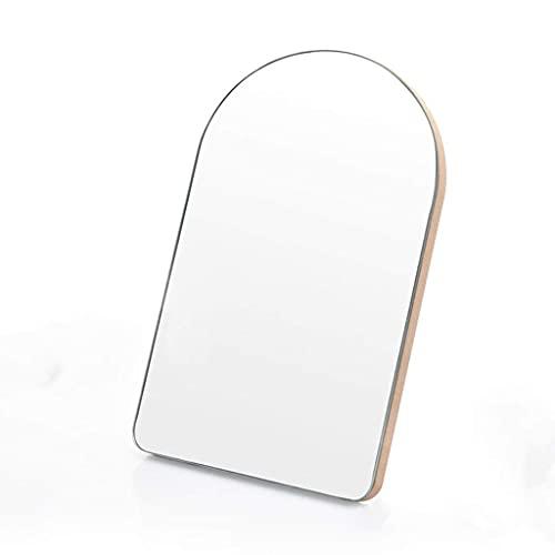 WFY Espejo de la vanidad de Escritorio sin Marco de Madera Simple Espejo de Maquillaje Grande Grande (Color : Arched)