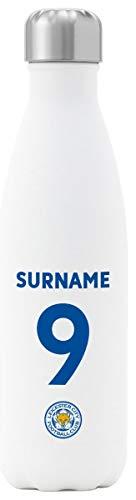 Personalisierbare Leicester City FC Thermo-Wasserflasche, Weiß