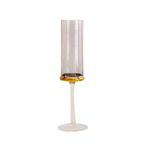 XZZFD Copas De Champán De Elegante Una Variedad De Estilos Copa De Vino,Soplado A Mano Copas De Champán De Cristal para Familia,Bar Restaurante Copas De Vino Partido-B Gris