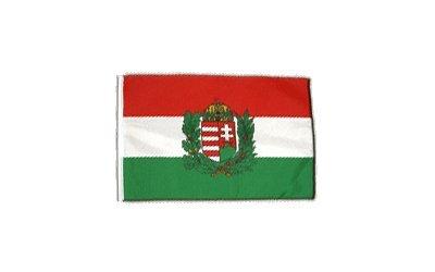 Fahne Flagge Ungarn mit Wappen 30 x 45 cm