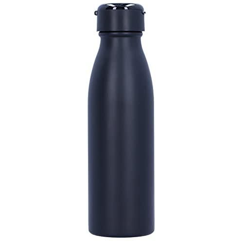 URRNDD Botella de vacío de Acero Inoxidable de 600 ml con Auriculares TWS Blutooth, tecnología Gratuita separada para Oficina, hogar, Viajes al Aire Libre, Suministros para Beber(Negro)