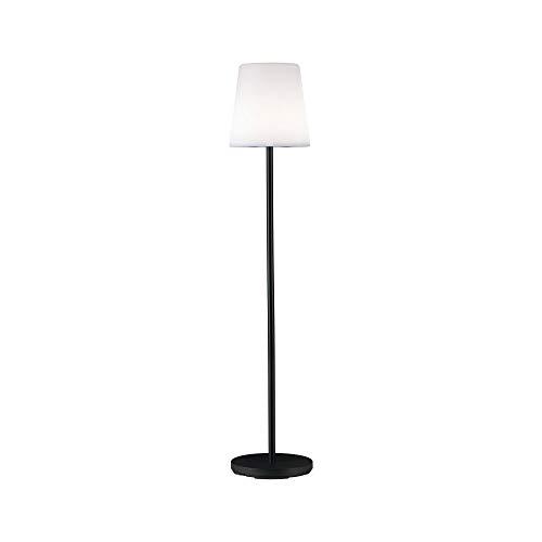 Paulmann 94170 LED Akkuleuchte Outdoor Mobile Stehleuchte Placido IP44 ladbar mit USB incl. 1x2 Watt dimmbar Gartenlicht Weiß, Grau Gartendeko Metall, Kunststoff Außenbeleuchtung 3000 K