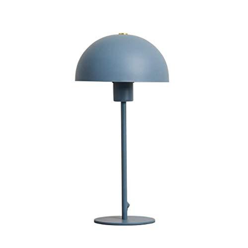 WECDS Lámparas de Mesa Lámpara de Mesa Creativa de Moda nórdica para el hogar Habitación de los niños Lámpara de Noche cálida Azul Rosa Luz de Lectura Opcional (Color: Azul)