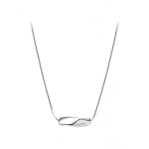 Joyería con colgante de anillo trenzado Cadena de clavícula Cadena de hueso de serpiente Collar de regalo simple para cumpleaños femenino Collar de la amistad Regalo de cumpleaños para ella