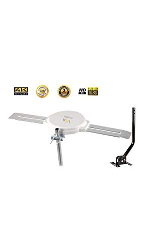 Lava Omnipro HD-8008 Omni-Directional HDTV Antenna 360 Degree - Attic or Roof Mount TV Antenna with Mounting Pole for Clear Reception, 4K 1080P