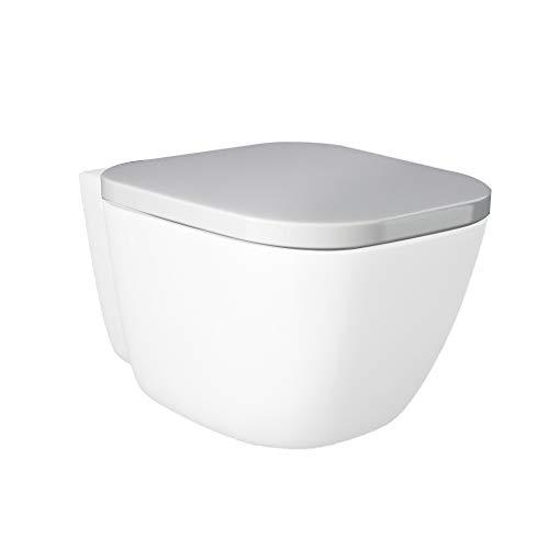 Inbagno Tavoletta Copriwc RAK ceramiche Originale Serie One in Termoindurente Bianco Avvolgente Sia per la Versione con WC SOSPESO Che WC A Terra