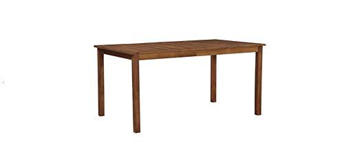 Hanper Tavolo da pranzo in legno massiccio di acacia 150 x 90 x 74 cm, marrone