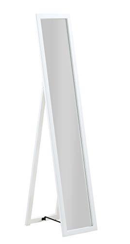 PEGANE Miroir sur Pied, Psyché en Bois Blanc, Pliable - Dim : L 30 x P 40 x H 150 cm