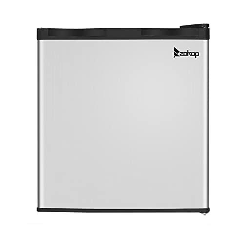 Mini Fridge; Small Fridge Freezer; Stainless Steel Freezer with Adjustable leveling leg; US AC115V/60Hz 31.1L/1.1CU.FT Upright Refrigerator - Reliable Choice; Black
