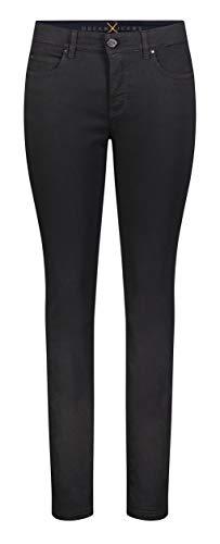 MAC Jeans Damen Hose Skinny Dream Skinny Dream Denim, Black-black, 38W / 32L