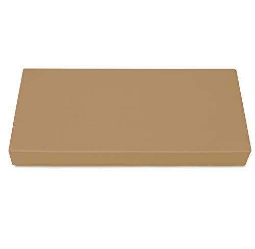 SuperKissen24 Palettenkissen Palettenauflagen Sitzkissen - 80x40 cm - Outdoor und Indoor - Beige