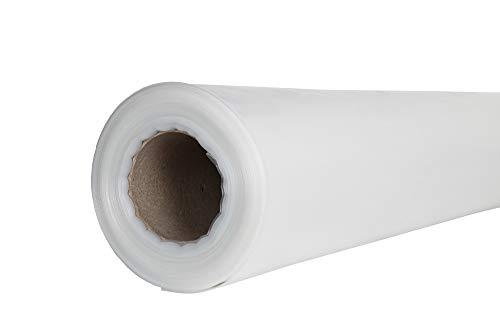 Baufolie transparent 1,5 x 50 m, Stärke echte 100 my (0,10 mm), gefaltet auf 0,75 m