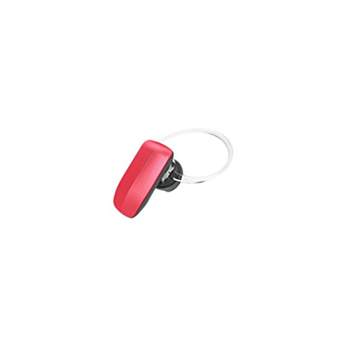 Quikcell Color Burst Mini Handsfree Wireless Bluetooth Headset-Retail Packaging -Red