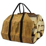 CHXIHome Fireplace Carrier Waxed Canvas, Fire Place Sturdy Wood Carring Bag with Handles, Firewood Bag, Fireplaces Supplies Log, Carrier Bag