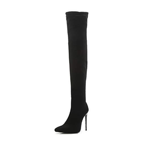High Heel laarzen van suède, voor de winter, elegant, warm, avond, party, bruiloft, laarzen