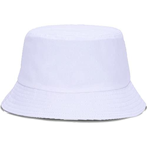 Cappello A Secchiello Alieno Solido Bianco Nero Unisex Maschio Femmina Estate Panama Cappello da Pesca Spiaggia Cappello da Pesca Applicare alla Pesca in Campeggio A Piedi Caccia in Barca ECC-3