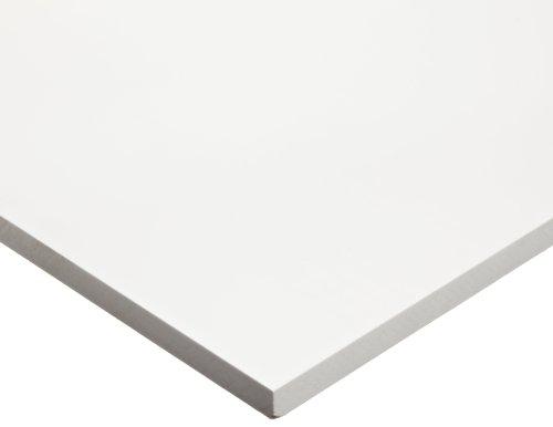 PVC (Polyvinyl Chloride) Sheet, Opaque White, Standard Tolerance, UL 94, 1/8' Thickness, 12' Width, 12' Length