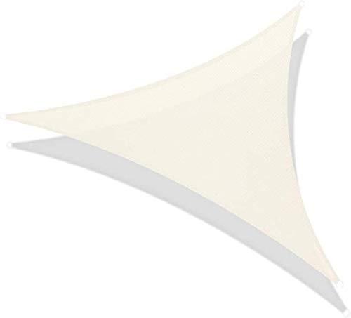 95% UV Sun Sail Shade Bloque Triángulo Impermeable Toldo Toldo Protector Solar for Patios al Aire Libre Jardín Pergola Piscina (Color: Beige, Tamaño: 3.6X3.6X3.6M) li (Color : Beige, Size : 3X4X5M)
