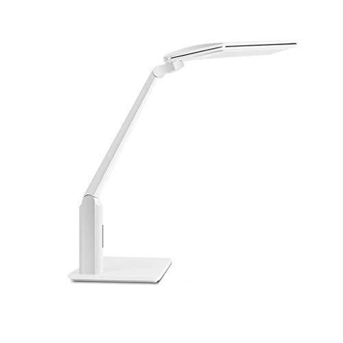 Lámpara de Mesita LED de lectura Escritorio Protección de los ojos lámpara de escritorio de la lámpara lámpara de mesa con 1,48 M Cable de alimentación for el Aprendizaje y la Lectura (blanco) Luz de