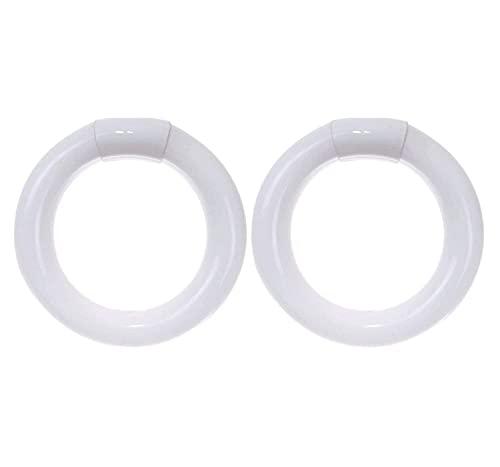 Sterl Lighting - Pack of 2 Circline Fluorescent FC8T9 Replacement - Circular Light Bulb 8 Inch - 22 Watt - 110-240 Volt -1200 Lumen - FC8T9/CW 4-Pin Base (G10Q) - 8,000 Lifespan - 4100K Cool White