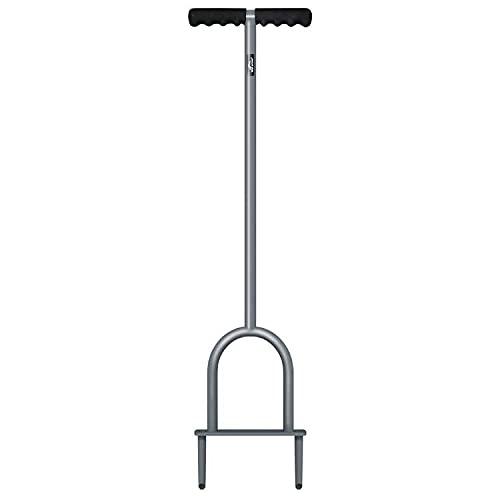 Walensee Aireador de césped manual, herramienta de aireación de núcleo para suelos compactados y céspedes para evitar que se escurran y compacten el césped y la compactación del suelo
