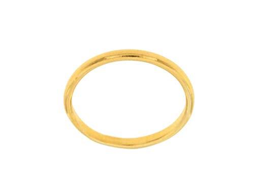 artigianale Anello fermanello Ferma Anello Argento 925 Colore Oro Scegli Misure Anello da 6 a 30 Misura Italiana Silver Ring 925 in Omaggio Un AMULETO CORNI