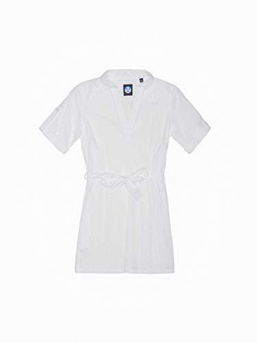 NORTH SAILS Broderie Anglaise Damen Minikleid in Baumwolle mit Schmaler Passform & Kurz Arm und Seitentaschen - XS