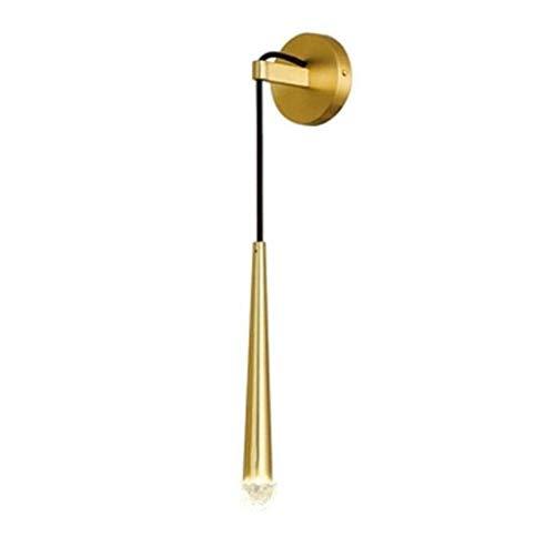 WarmHome Llevada Creativa lámpara de Pared de Estilo Moderno lámpara de Pared de la Simplicidad del diseño de la lámpara de la lámpara de latón Macizo, de Oro, A
