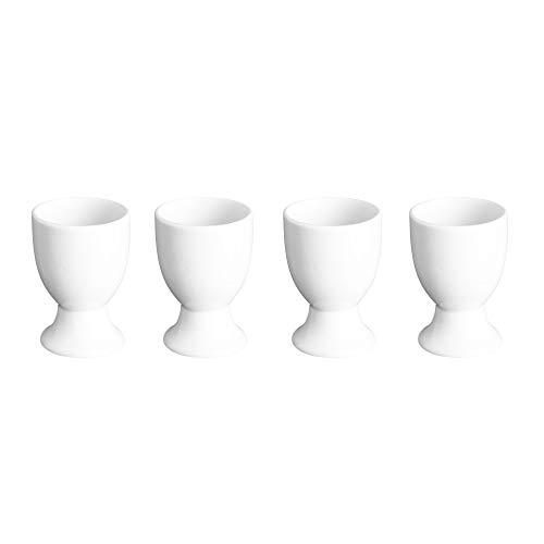 Rayware Lot de 4 coquetiers en Porcelaine Blanc