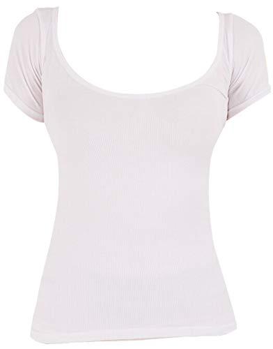 キュライン シェイプアップ 加圧シャツ レディースTシャツ サウナスーツ 補正下着 (フリー, 白)