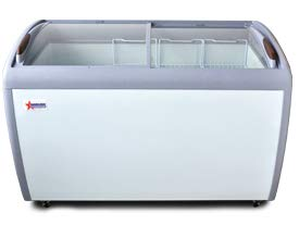 Omcan 27941 50-INCH ICE CREAM DISPLAY FREEZER WITH 12.8 CU. FT CAPACITY
