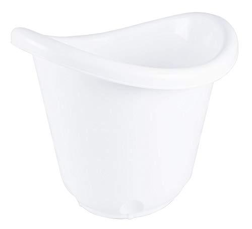 Bieco 79000064 Seau de bain pour bébé ergonomique avec pieds en caoutchouc antidérapants pour bébé à partir de 0 m+ Blanc