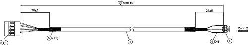 ASUS CM9 Power SW Cable L500 White, 14004-02000300