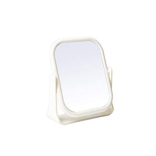 C-J-Xin Rectangle Miroir, Miroir de Maquillage Portable Blanc Spin Homme Tenue à raser Miroir Miroir Bureau Beauté Fille Dorm Studio Room Miroir de Maquillage (Size : 13 * 16CM)