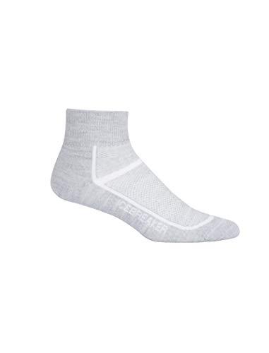 Icebreaker Blizzard Mini chaussettes de sport ultra légères en laine mérinos pour femme Blanc, Femme, 101486, Blizzard HTHR/blanc., s