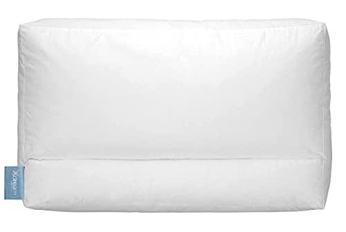 XDREAM Ergo - Almohada cervical de 2 zonas para un apoyo óptimo de la musculatura del cuello | ideal para dormir boca abajo, de espalda y de lado | 40 x 60 cm | Certificado Öko-Tex