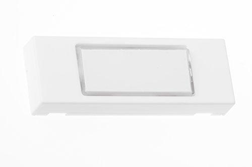 HUBER Klingeltaster 12111, 1-fach aufputz, beleuchtbar, rechteckig, aus Polystyrol