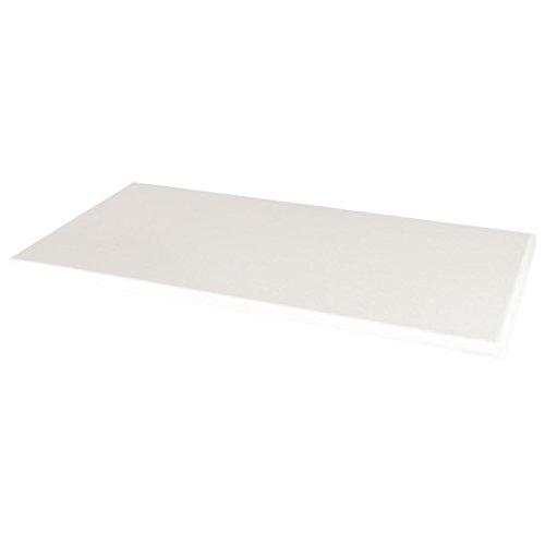 Werzalit Plus Gc609 rectangulaire Dessus de table, 1100 mm, blanc