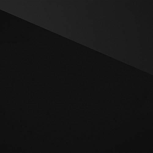 TECOSMART Möbelfolie selbstklebend Schwarz Hochglanz extrem leicht blasenfrei verklebbar | 620mmx2300mm