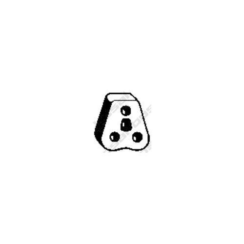 Bosal 255-005 Butée élastique, silencieux