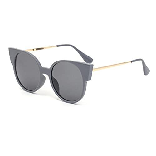 DLSM Gafas de Sol de Moda Gafas de Sol Gafas de Gato Gafas de Sol Mujer Ciclismo, Esquí, Golf y Correr-Doble Gris