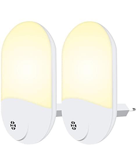 JminJC Luz de Noche para Niños Luz Noche LED Plug-and-Play Luz de Noche con Enchufe Automático con Sensor Crepuscular para Habitaciones De Niños Sala (2 Piezas,WarmlightUSSpecifications