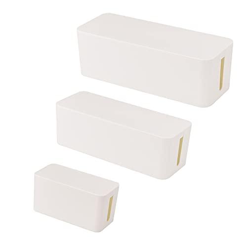 Kabelbox Groß Weiß,Cable Organizer,Kabelorganisation Zum Verstecken Von Kabelsalat Und Steckdosenleisten,Kunststoffbox Kabel-Box,Schutz FüR Kinder Und Haustiere,Schreibtisch-Organizer,Kabel Verstecken