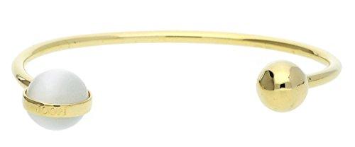 Joop! Damen-Armreif Vergoldet Katzenauge weiß JPBA00005B580
