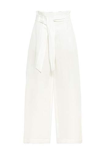 HALLHUBER Paperbag-Hose mit Leinen weit geschnitten Offwhite, 38