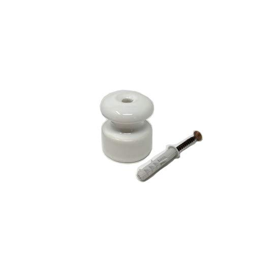 Aislador de porcelana para cableado de pared de 20 mm 10Pcs