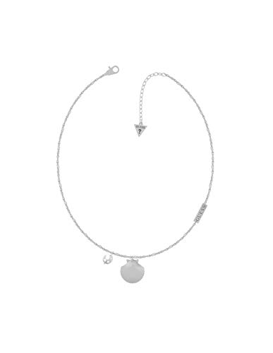 Guess Damen-Kette 18-20 Shell SNGL Chain NK(RH) Edelstahl One Size Silber 32012901